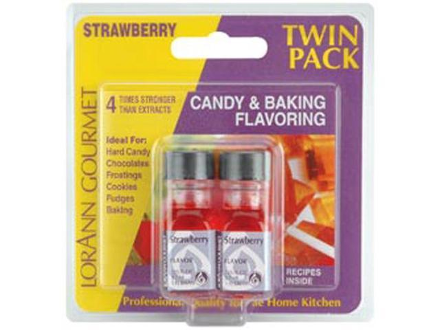 Candy & Baking Flavoring .125oz 2/Pkg-Strawberry