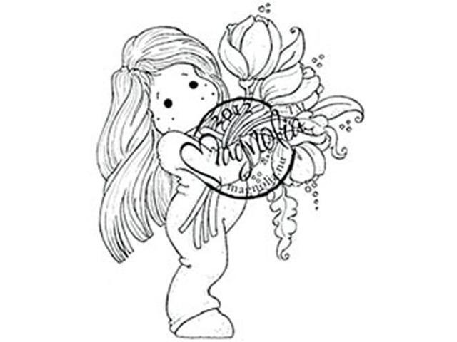 With Love Cling Stamp-Tilda With Big Tulips