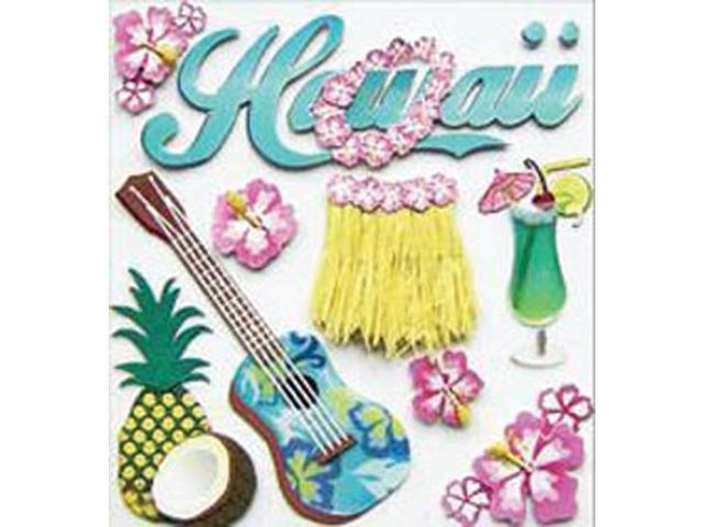 Jolee's Boutique Dimensional Destination Stickers-Hawaii