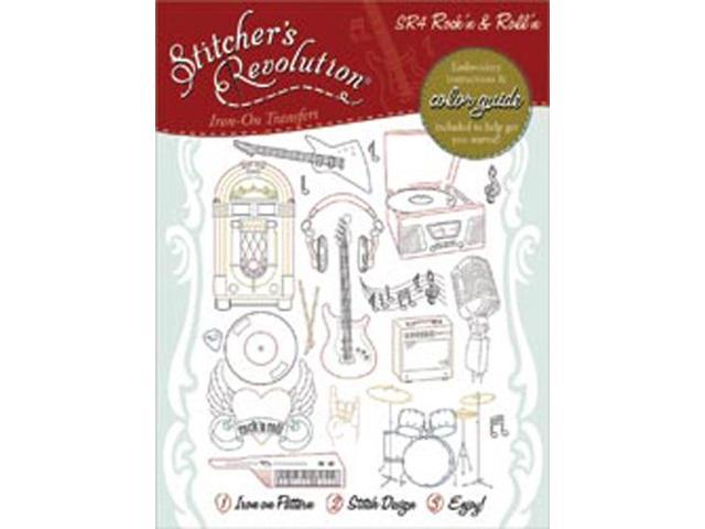 Stitcher's Revolution Iron-On Transfers-Rock'n And Roll'n