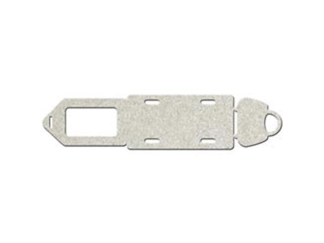 Die-Cut Grey Chipboard Embellishments-Tag; Number Plate & Bag; To 2.5