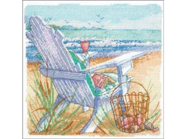 Gold Petite Tide View Counted Cross Stitch Kit-6
