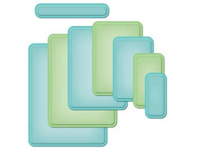 Spellbinders Nestabilities A2 Card Creator Dies-Curved Matting Basics A