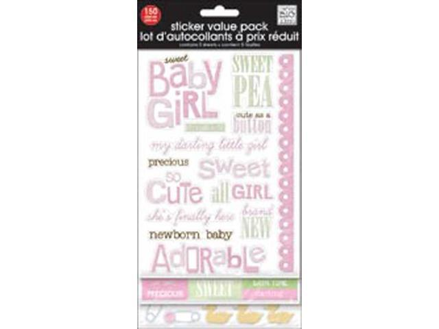 Glitter Stickers Value Pack-Sweet Baby Girl