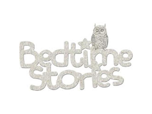 Die-Cut Grey Chipboard Word-Bedtime Stories 5.75