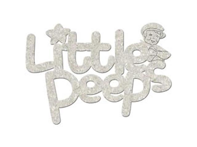 Die-Cut Grey Chipboard Word-Little Peeps 4.5