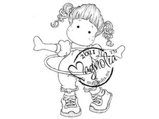 Sweet Rainbow Cling Stamp-Rocking Tilda