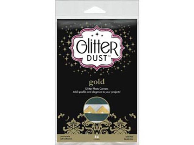 Glitter Dust Photo Corners 84/Pkg-Gold