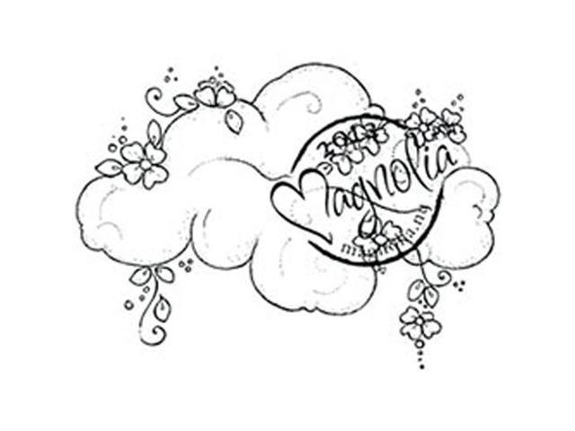 With Love Cling Stamp-Flower Cloud