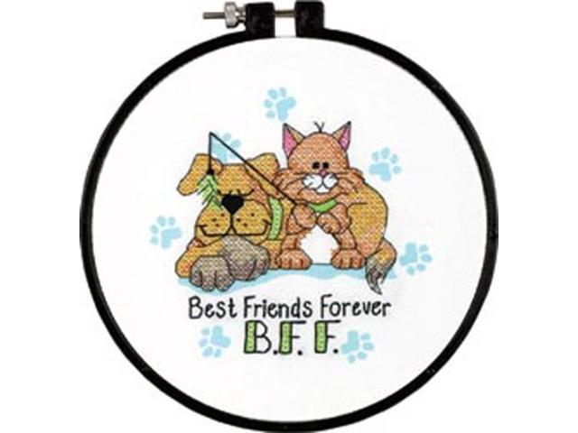 Learn-A-Craft Best Friends Forever Stamped Cross Stitch Kit-6