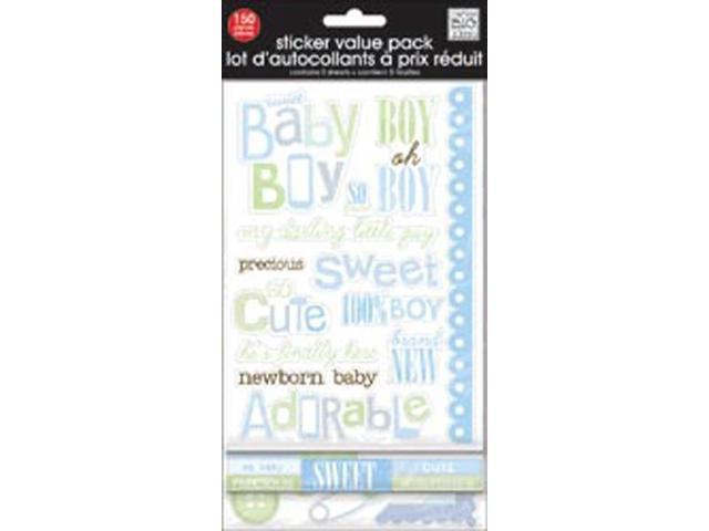 Glitter Stickers Value Pack-Sweet Baby boy 150/Pkg