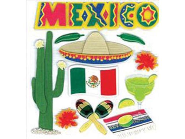 Jolee's Boutique Dinensional Destination Stickers-Mexico