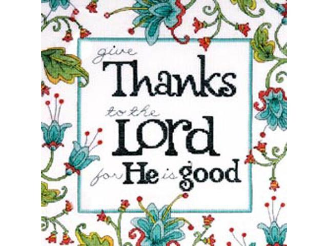 Heartfelt Give Thanks Counted Cross Stitch Kit-10