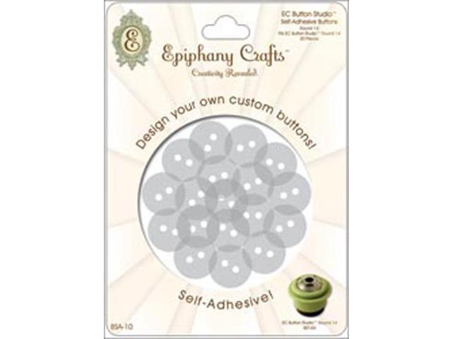 Epiphany Button Studio Self-Adhesive Buttons 20/Pkg-Round 20