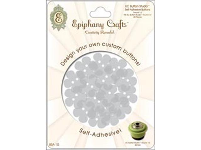 Epiphany Button Studio Self-Adhesive Buttons 20/Pkg-Flower 20