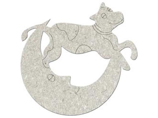 Die-Cut Grey Chipboard Embellishments-Cow Jumps Over The Moon 3.9