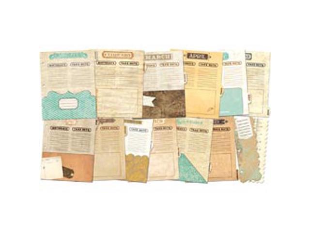 Misc Me Binder Dividers-Vintage Calendar
