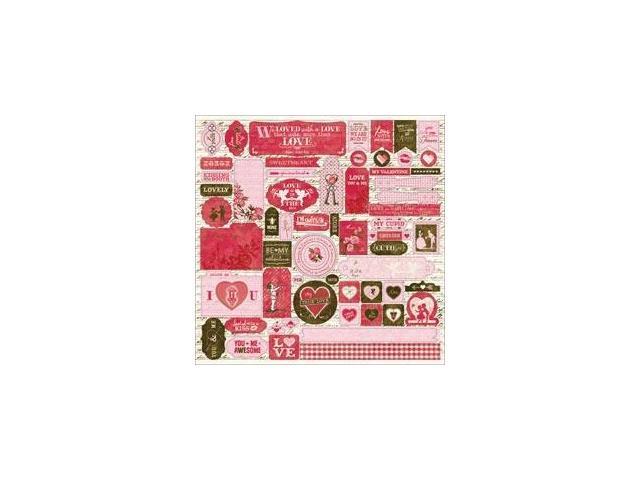 Smitten Cardstock Stickers 12