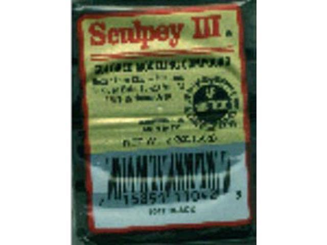 Sculpey III Polymer Clay 2oz-Black