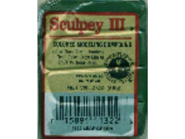 Sculpey III Polymer Clay 2oz-Leaf Green