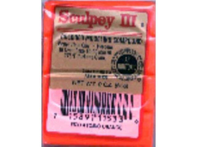Sculpey III Polymer Clay 2oz-Hot Pink