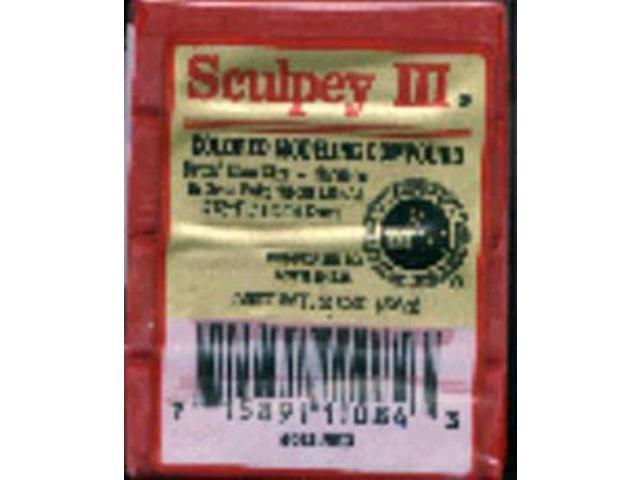 Sculpey III Polymer Clay 2oz-New Red