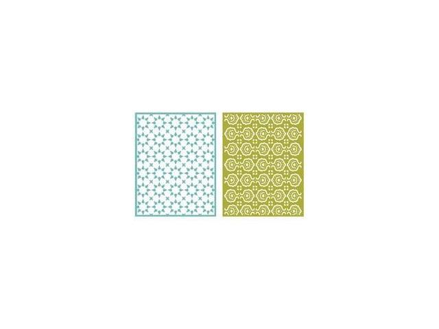 Goosebumps A2 Embossing Folders 2/Pkg-Tile