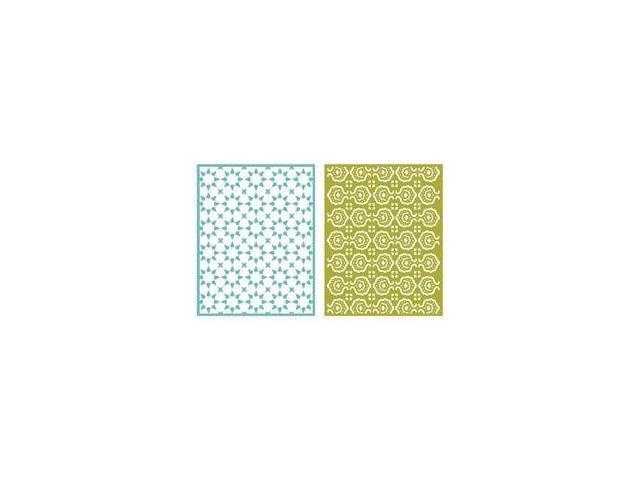 Goosebumps A2 Embossing Folders 2/Pkg-Tile