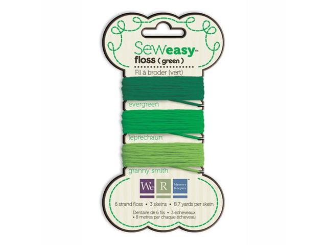 Sew Easy Floss (Carded) 26.1 Yards-Green
