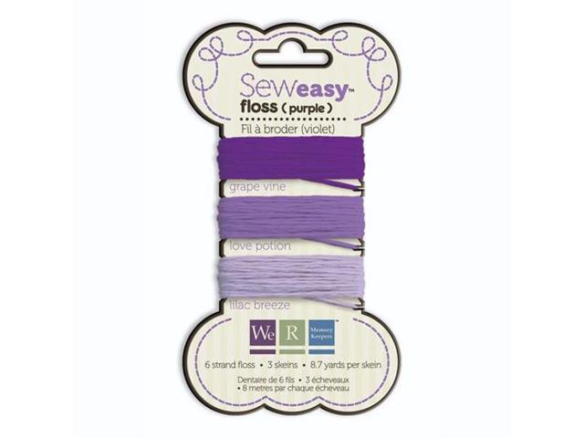 Sew Easy Floss (Carded) 26.1 Yards-Purple