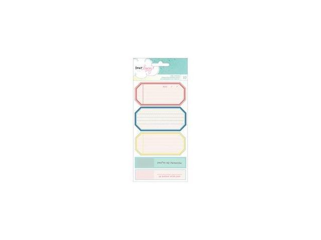 Polka Dot Party Cardstock Stickers 3.75