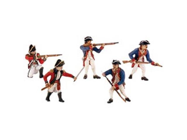 Revolutionary War Soldier Figurines 5/Pkg-