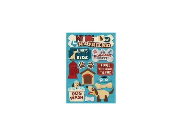 Dog Cardstock Stickers 5.5
