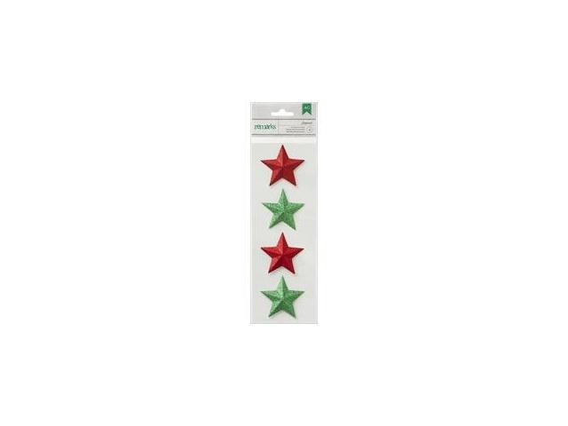 Peppermint Express Remarks Dimensional Adhesive Stars 2