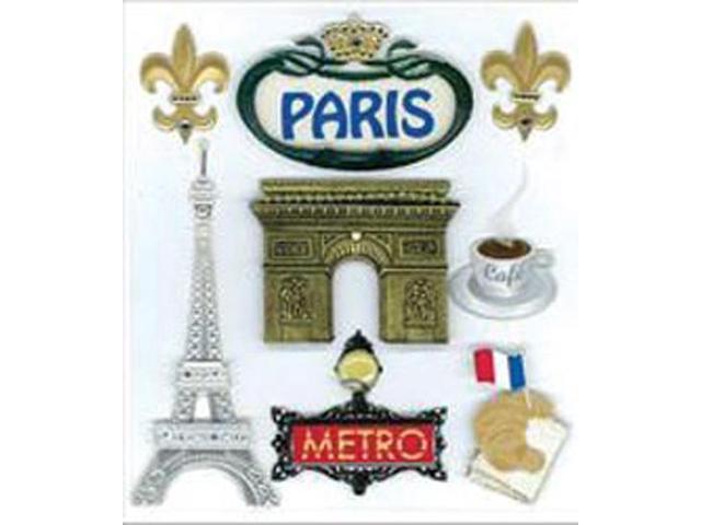 Jolee's Boutique Dimensional Destination Stickers-Paris