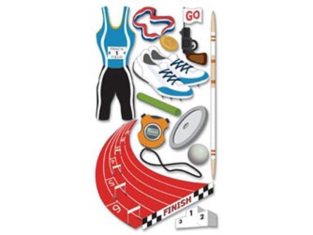 Jolee's Boutique Le Grande Dimensional Sticker-Track & Field