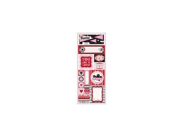 Head Over Heels Cardstock Sticker 4.5