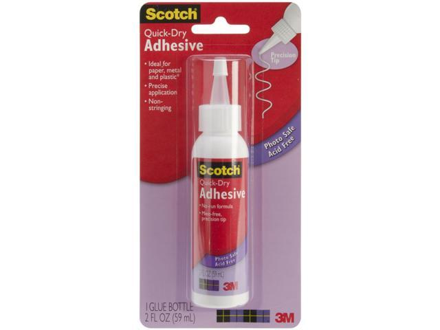 Scotch Quick Dry Tacky Adhesive-2 Ounce