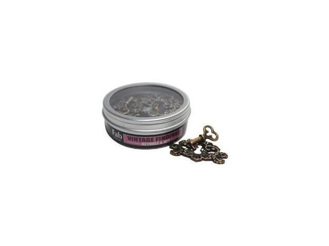 Old Brass Embellishments 20/Tin-Vintage Findings - Fancy Keyhole & Key