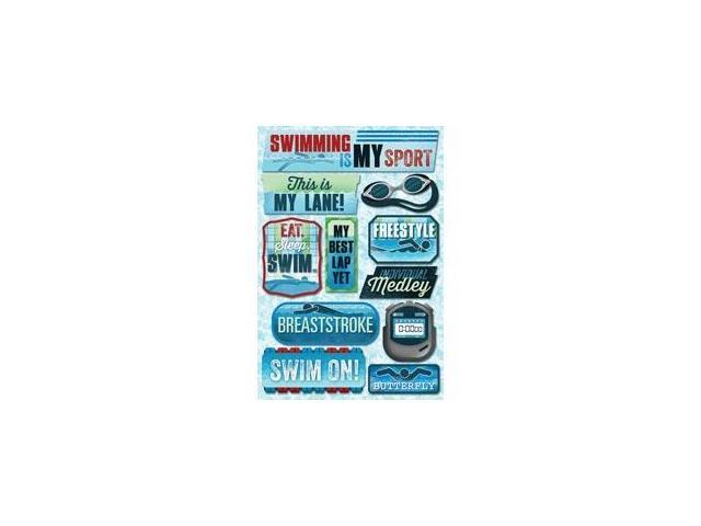 Swim Team Cardstock Stickers 5.5