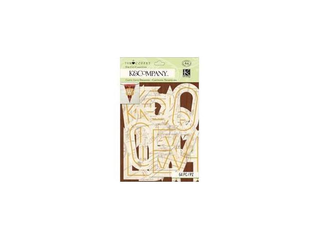 Travel Die-Cut Cardstock Alpha 64/Pkg-