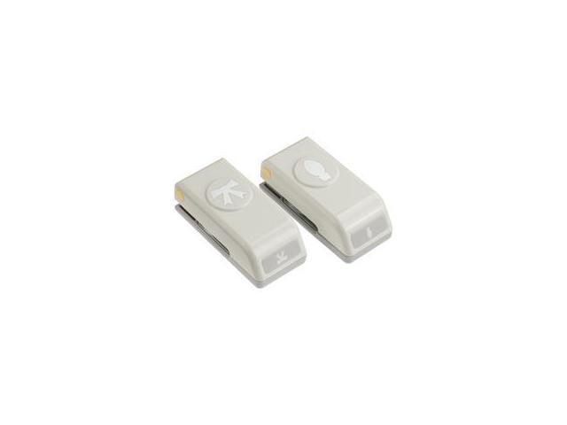 Mini Punches 2/Pkg-Bulb & Bow; .6