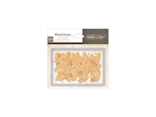 Printshop Laser-Cut Wood Veneer Shapes 125/Pkg-Hearts