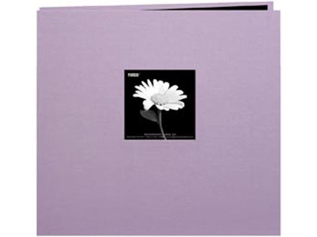 "Book Cloth Cover Postbound Album With Window 12""X12""-Misty Lilac"