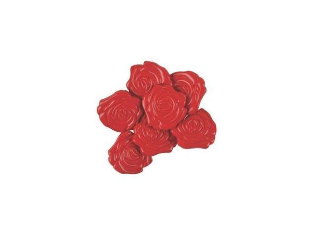 Favorite Findings Buttons-Roses Red 6/Pkg