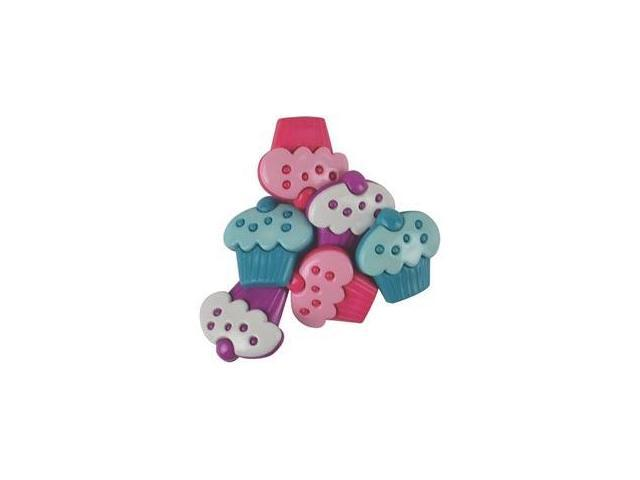 Favorite Findings Buttons-Cupcake Party Assorted 6/Pkg
