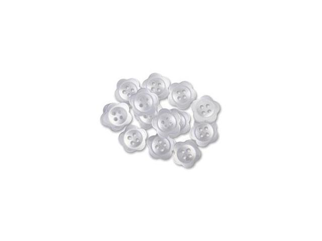 Favorite Findings Buttons 13/Pkg-Blooms White