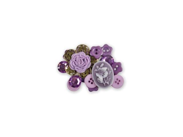 Favorite Findings Shaped Buttons-Romantic Dreams Assorted 22/Pkg