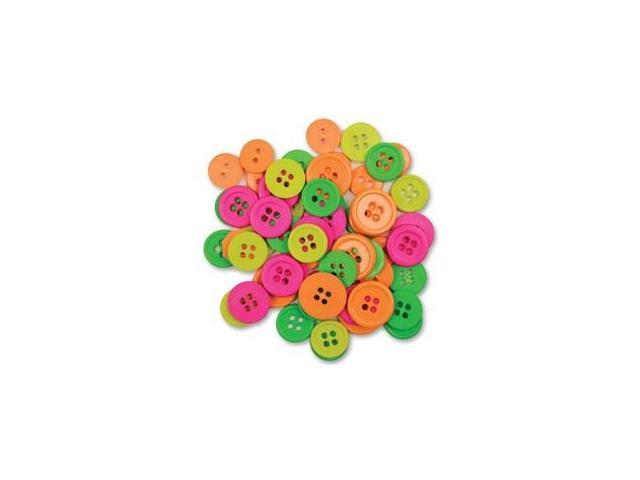 Favorite Findings Buttons-Neon Assorted 130/Pkg