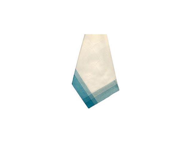 White & Turquoise Stripe Mcleod Towel 20